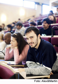 Photo: students during a lecture